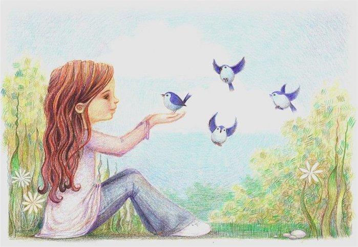 Рисунок счастье карандашом, пищевиков открытки