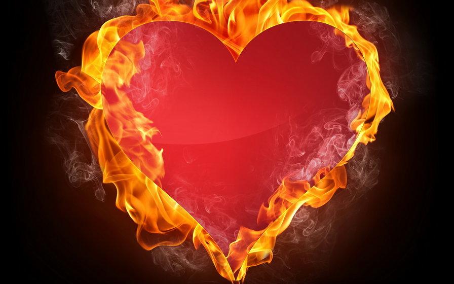 Сердце горящее картинки, днем революции