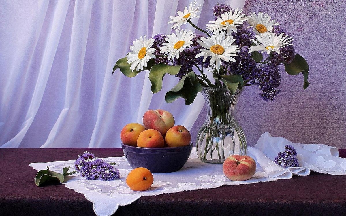 День, найти открытку с добрым утром с цветами и фруктами
