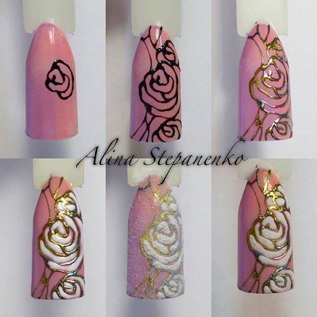 жизни дизайн ногтей розы фото пошагово холодной