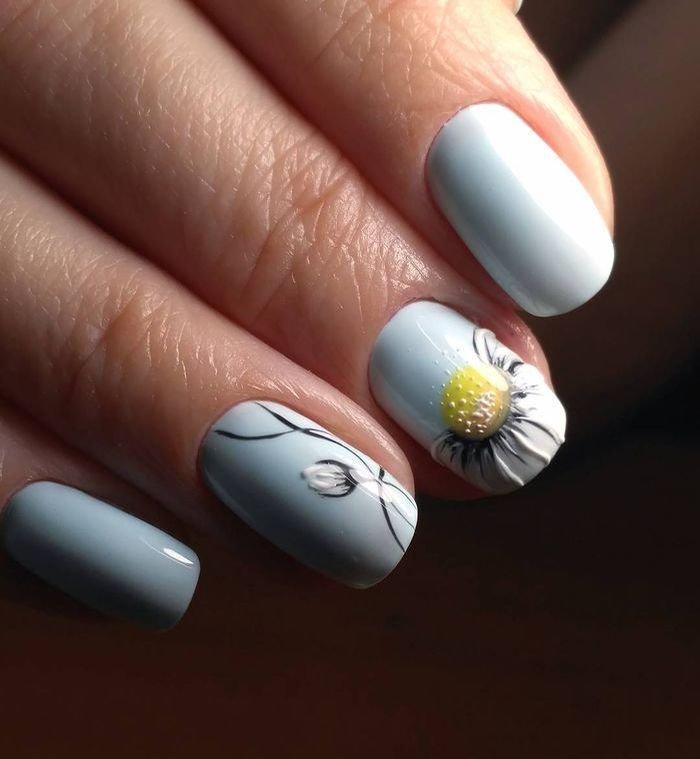 Дизайн на короткие острые ногти фото картинки