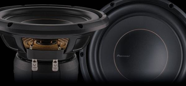 Pioneer ts d12d4 shallow mount subwoofer | dual voice coil review ...