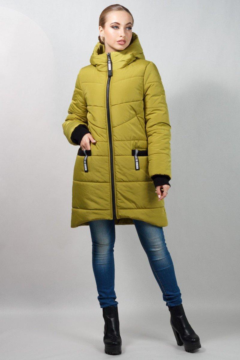 d918126a2d69 Женские зимние куртки-парки, пальто. - Молодежное пальто с фигурным низом.  42