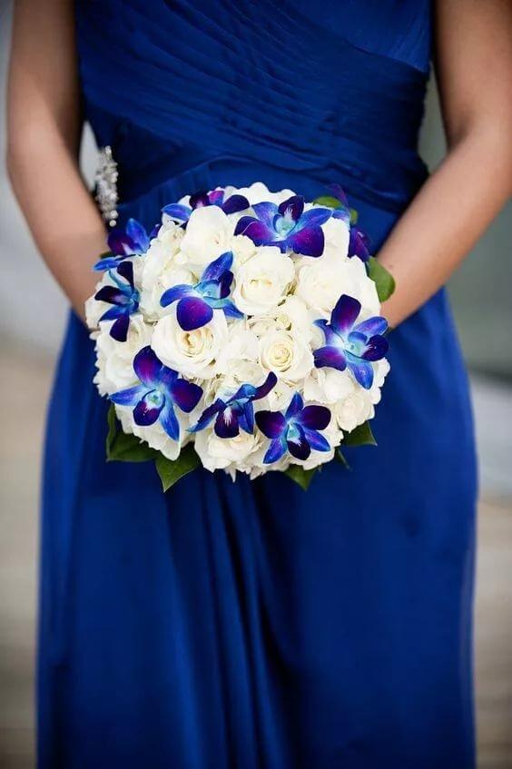 букет невесты в синем цвете фото барсы любимое