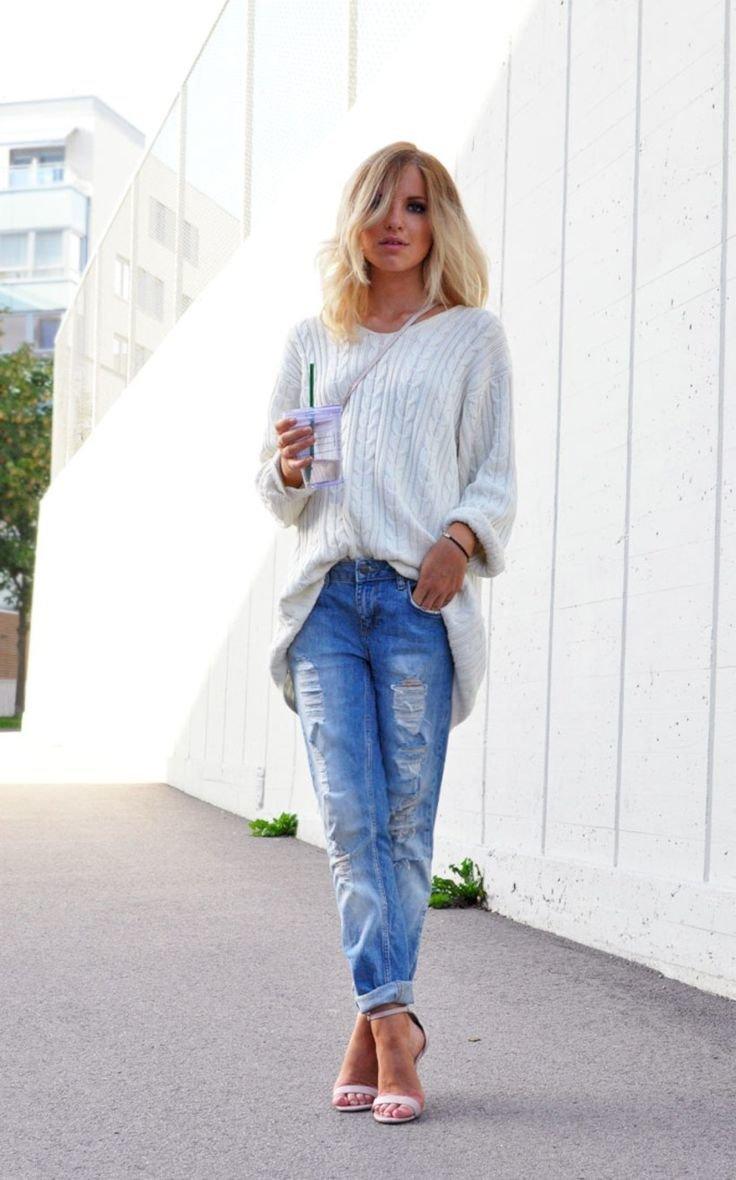 блондинки с каре в джинсах фото сайта