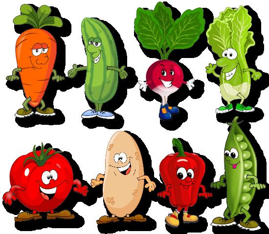 Овощи и фрукты смешные рисунки