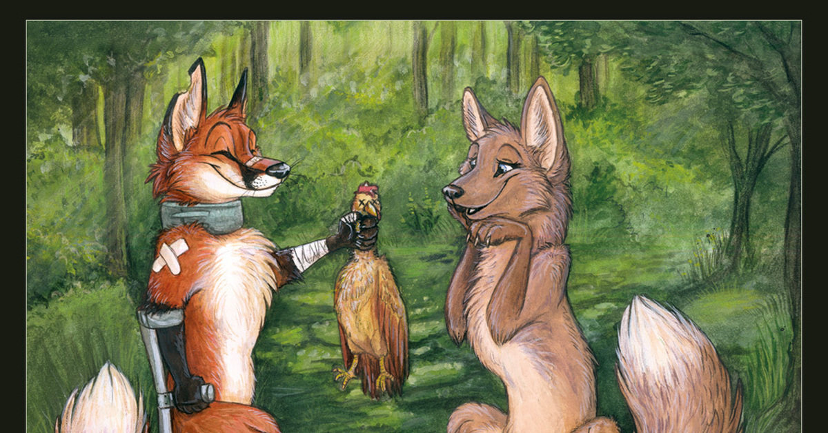 Серия картинок с лисом