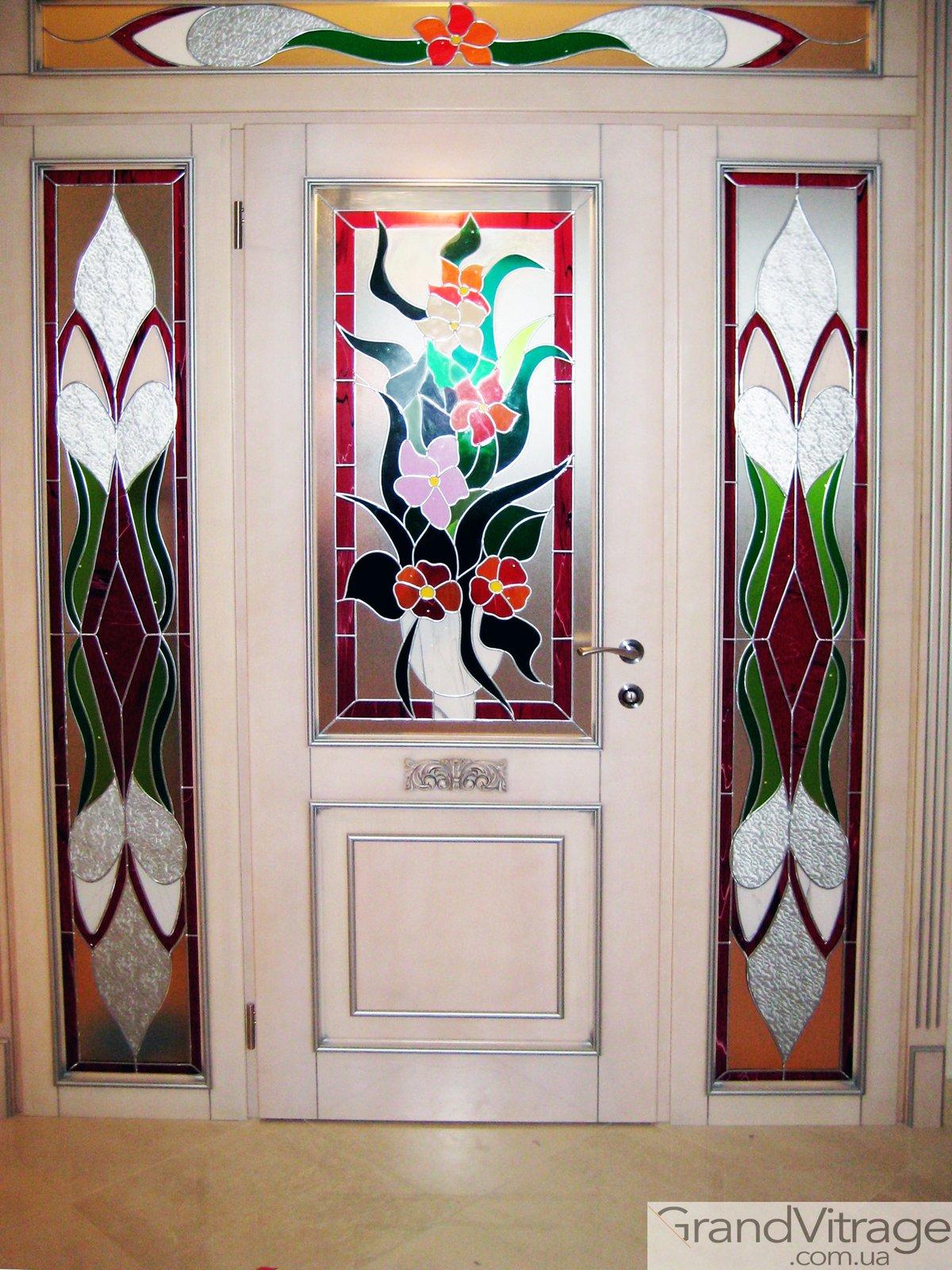 Витражи картинок для дверей