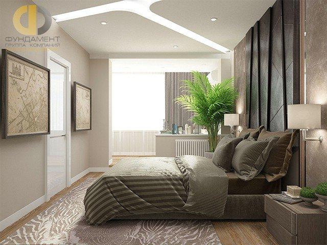 дизайн спальни в современном стиле с балконом карточка