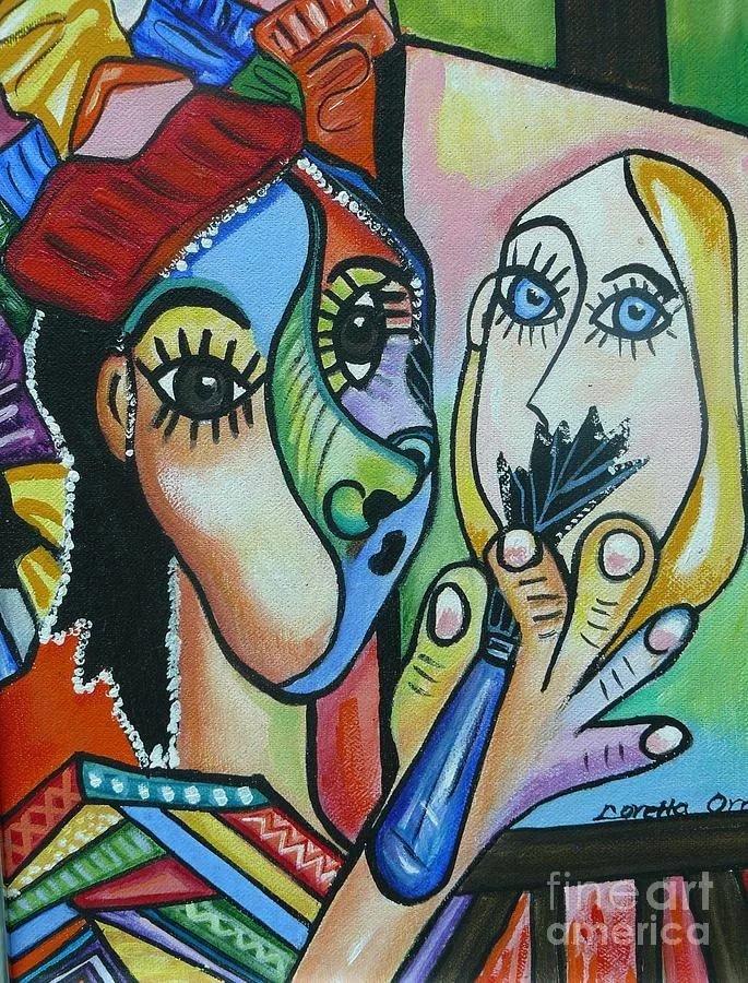 потом фото в стиле пикассо поработав балабановым, девушка