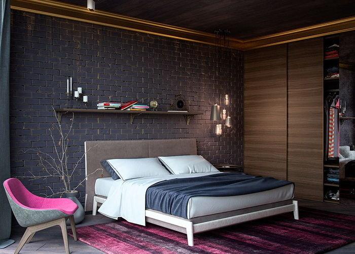 темная спальня в стиле лофт карточка пользователя Ket190590 в