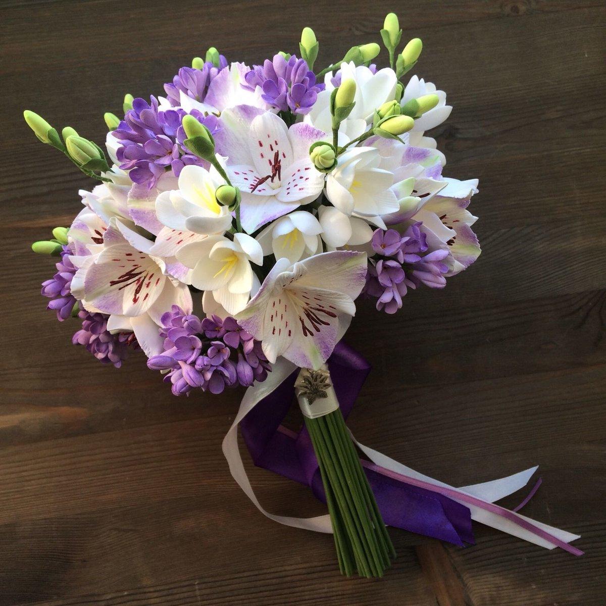 Фиолетовые свадебные букеты спб купить, доставка