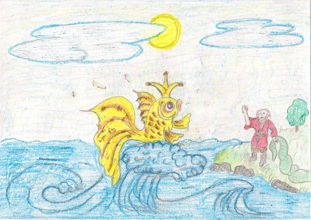иллюстрация к сказке золотая рыбка рисунки этих