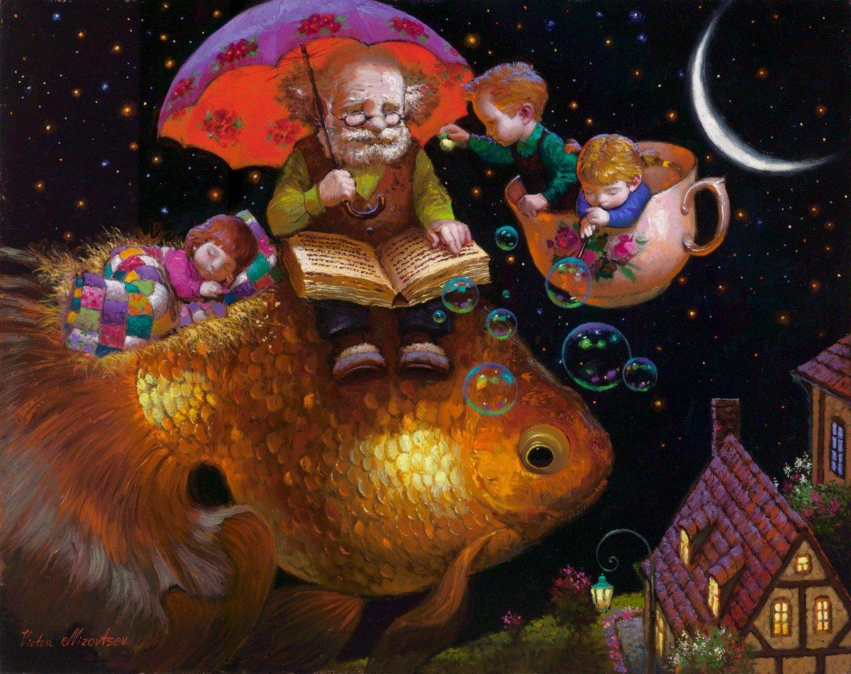 Сказка на ночь картинки красивые, для девочек