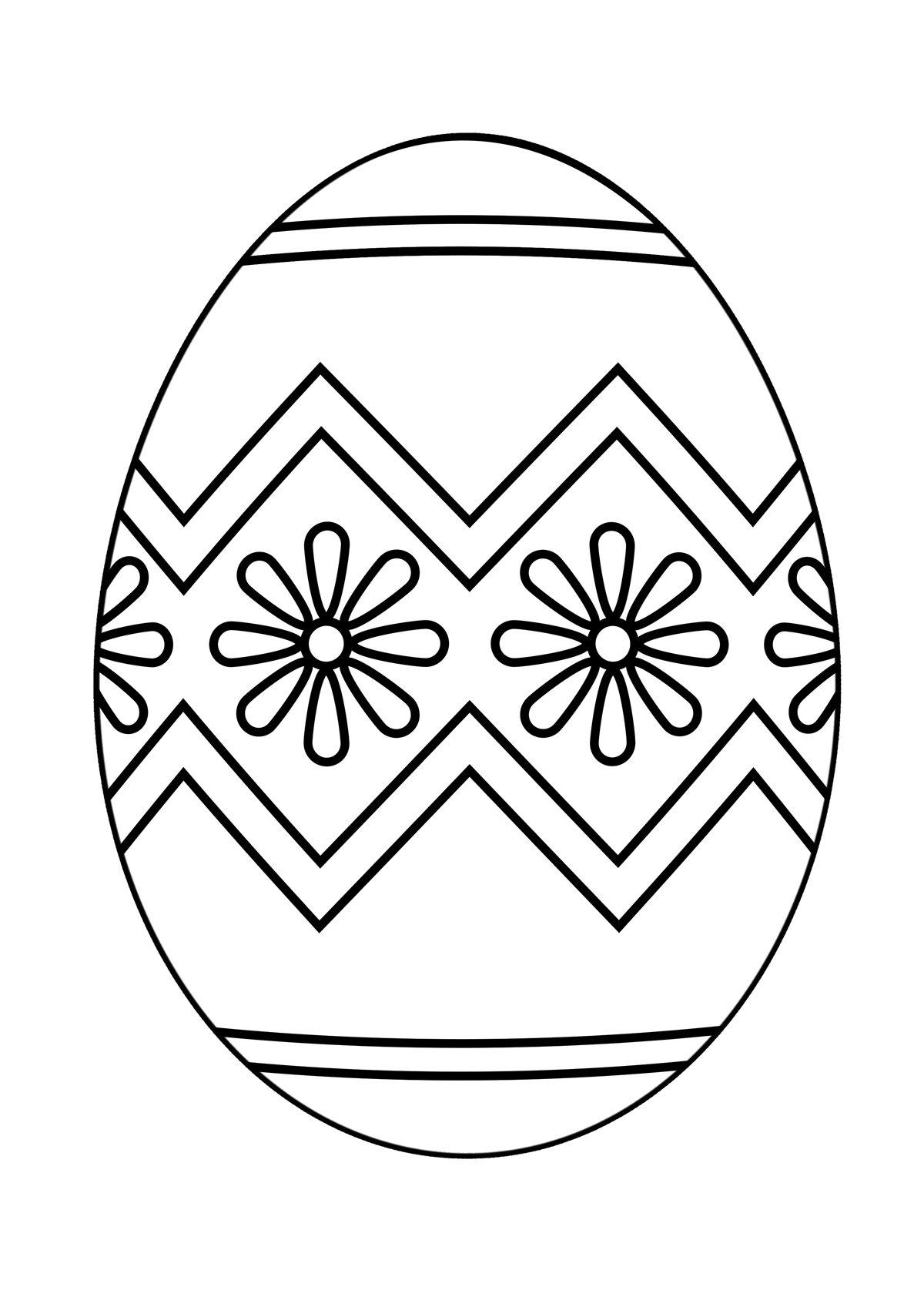 Раскраска пасхального яйца картинки