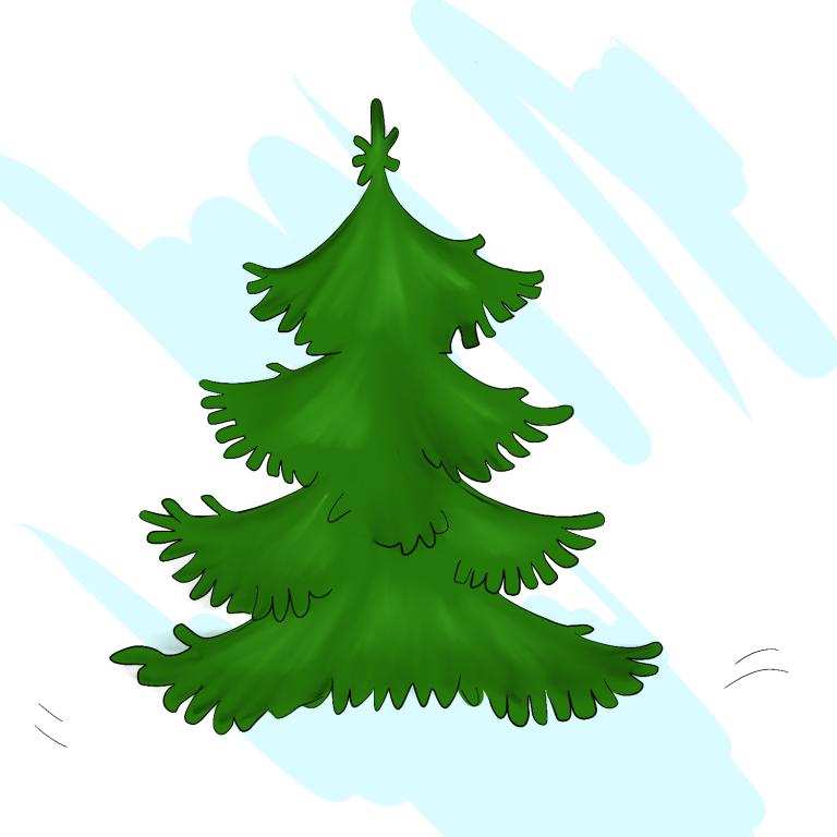 Картинки елочек зеленых