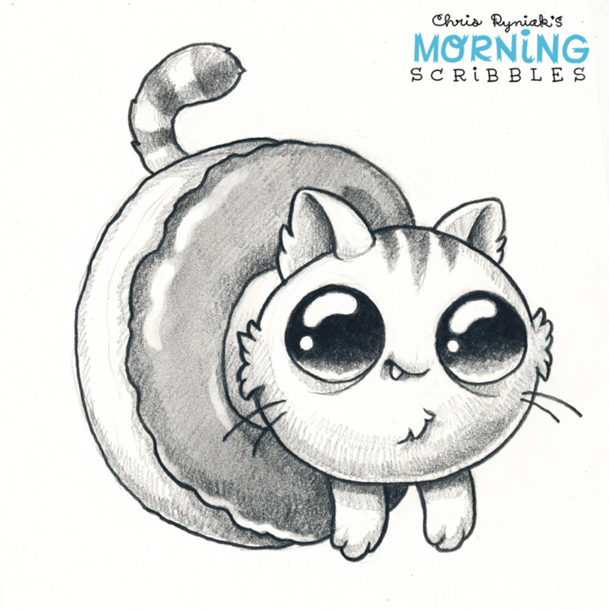 How To Draw Cartoon Cats Easy Easy Pencil Drawings Of Cute D Card