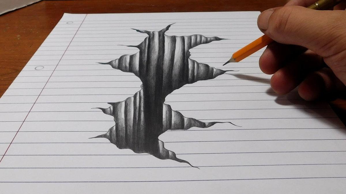 Tag 3d drawing on paper tutorial pdf pencil art drawing