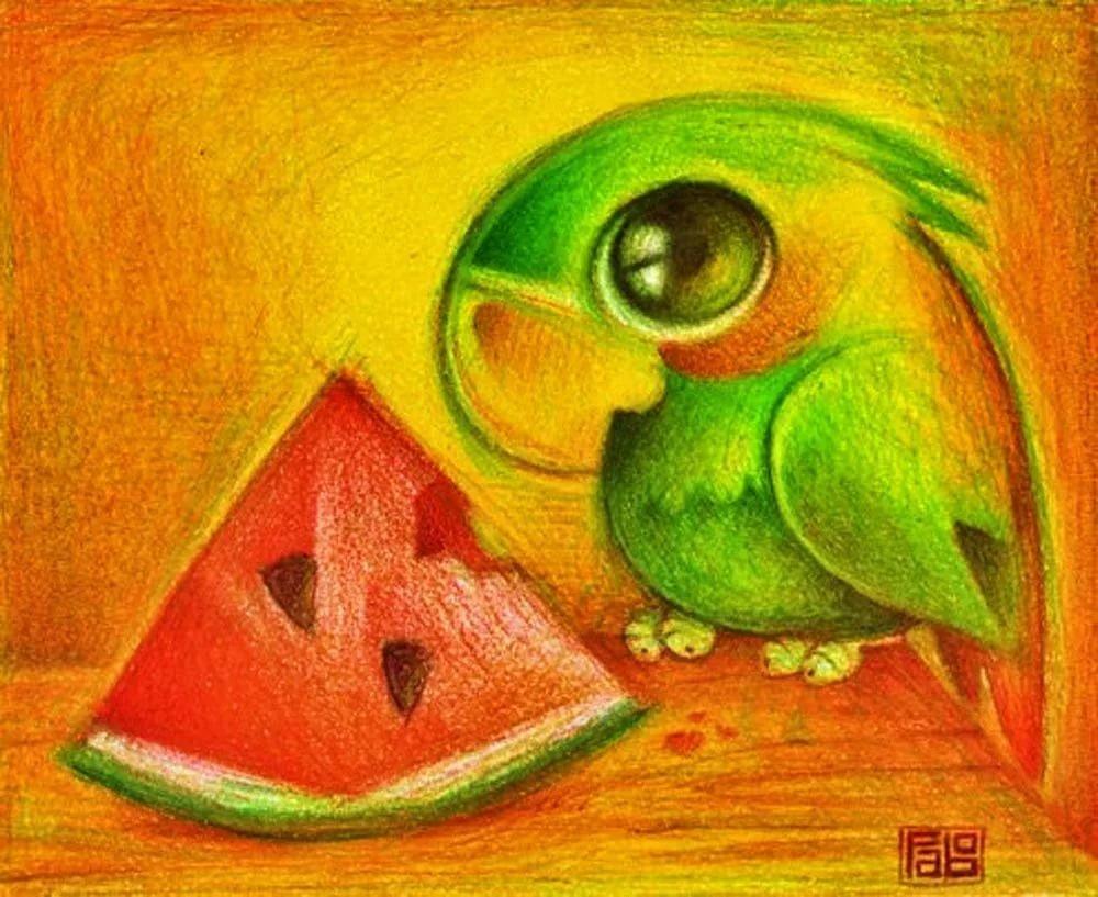 Картинки милых животных для срисовки, картинки