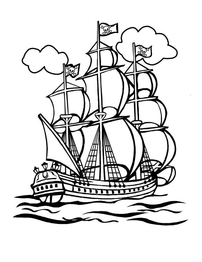 Корабли картинки для детей раскраски