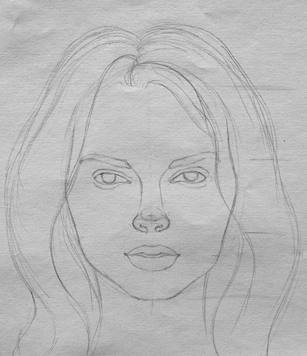 Картинки рисовать лица девушек поэтапно