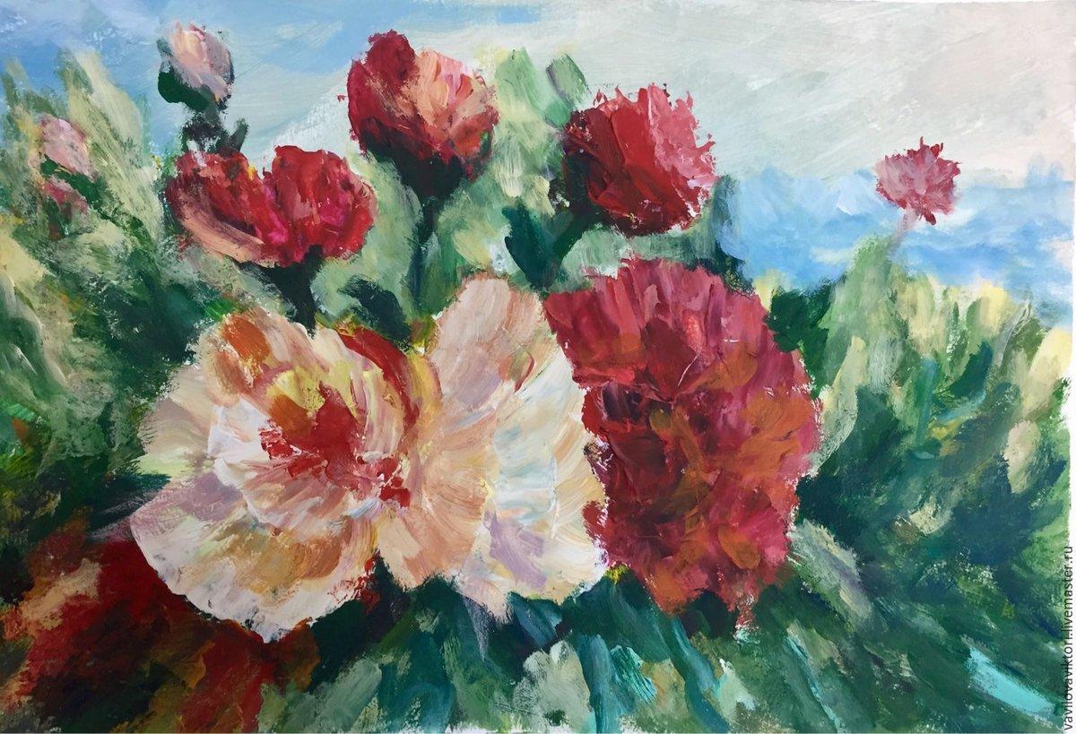 Фото цветы гуашью