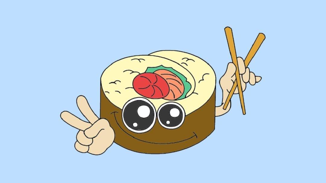 Прикольные картинки еды для срисовки с глазами