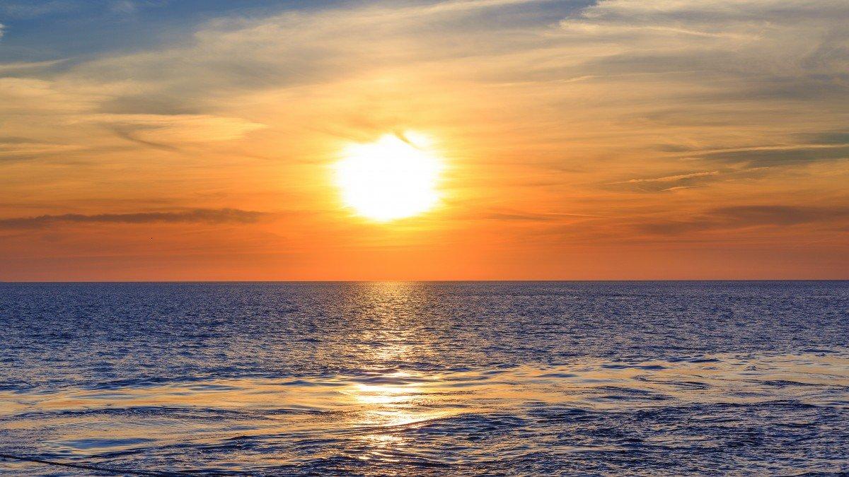 Восход на море открытки