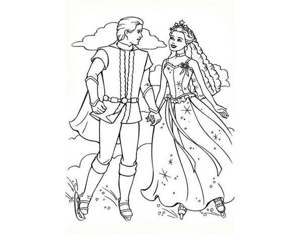 37 карточек в коллекции раскраски с барби принцессами