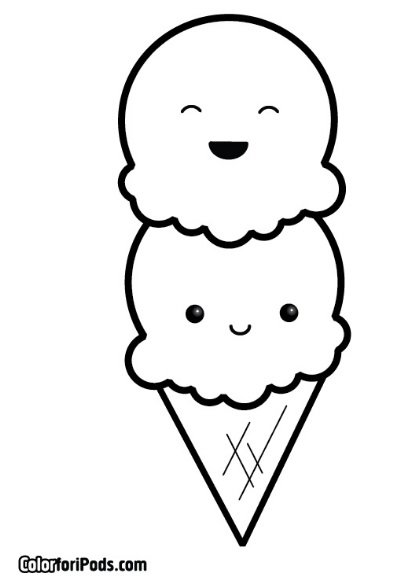 Ice Cream And Popsicle Printable Coloring Pages Kids Color Card