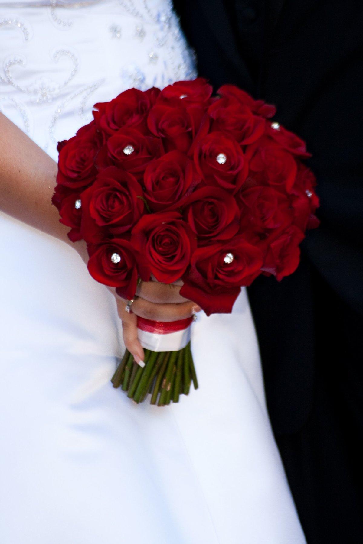Для, букет невесты из красных цветов фото