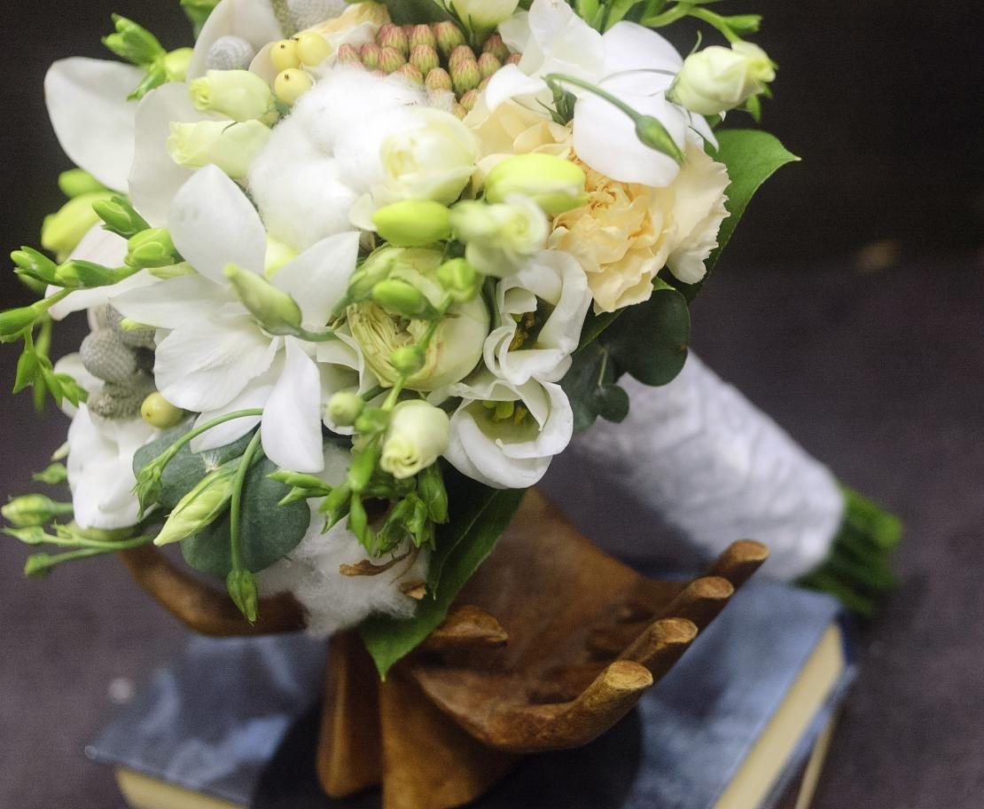 Свадебный букет орхидей фрезий, дню святого валентина
