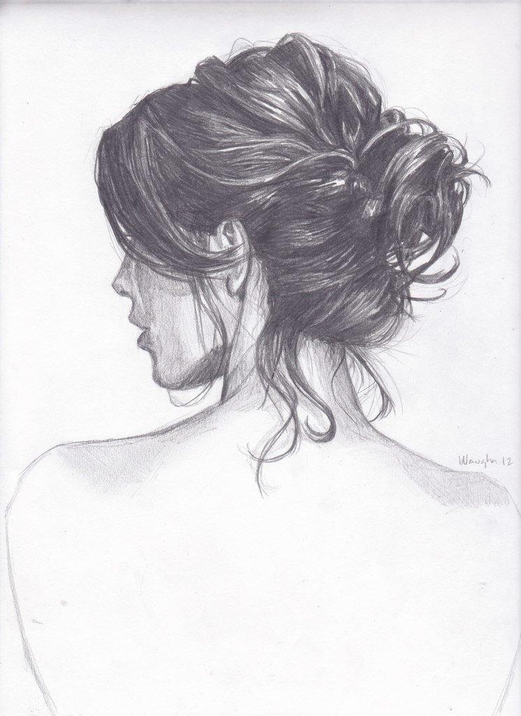 картинки нарисованные девушки карандашом со спины