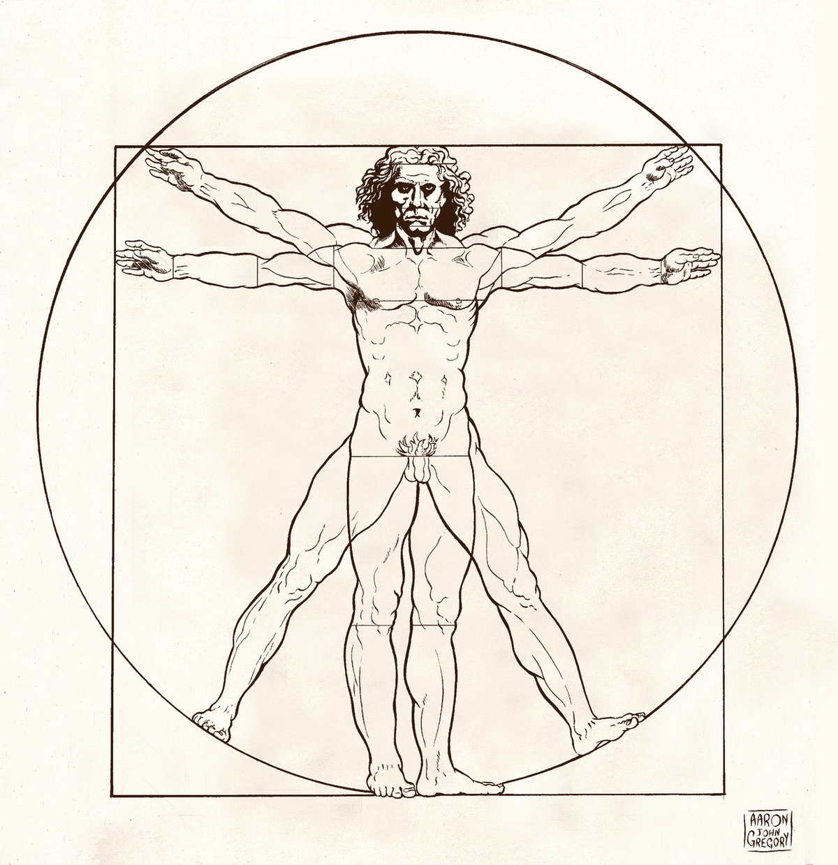 картинка леонардо да винчи человек в круге