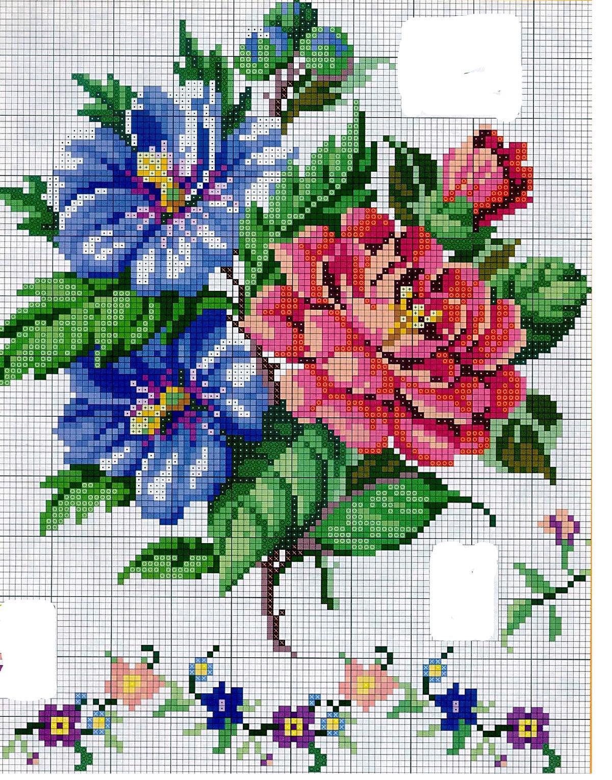 Картинки цветов для вышивки крестиком