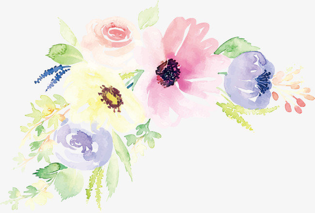 Цветы акварель на открытку