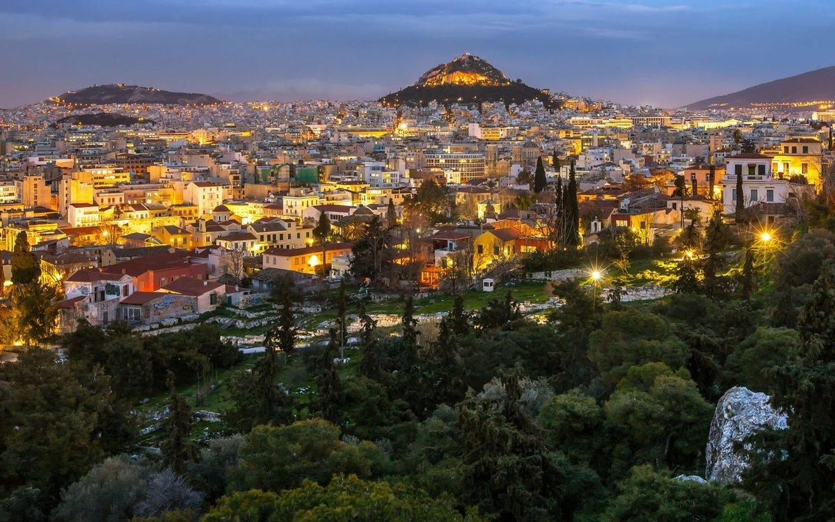 Современный город афины фото