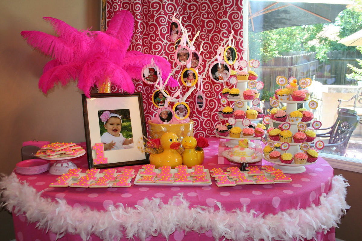 Party theme for girls, very young little girls ass