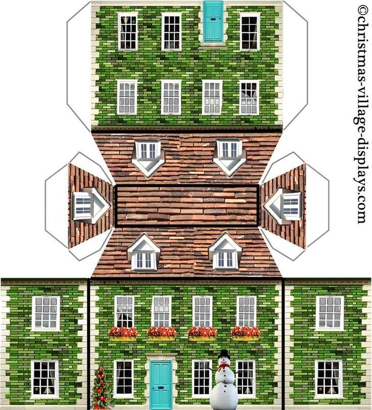 Картинки объемного дома доске
