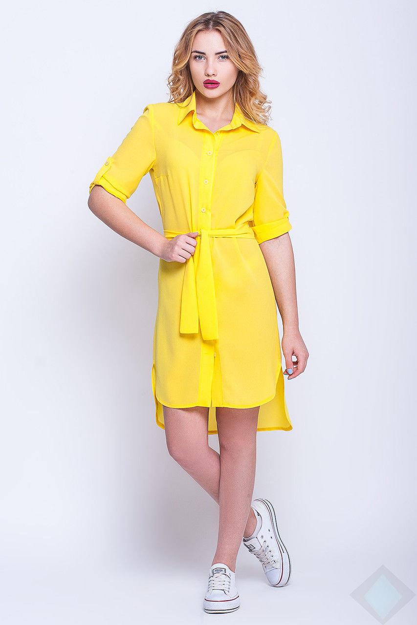 e8904a9e87b В этом сезоне опять остается трендом платье-рубашка. Модель выполнена из  однотонного легчайшего креп