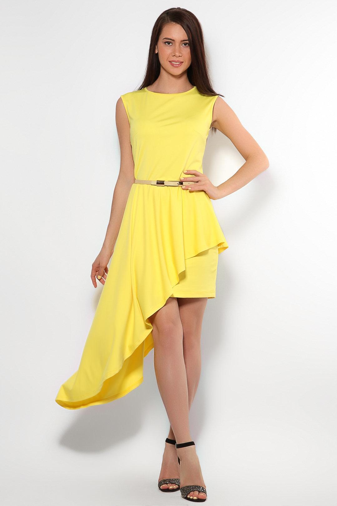 очень красивая девушка в желтом платье - 3