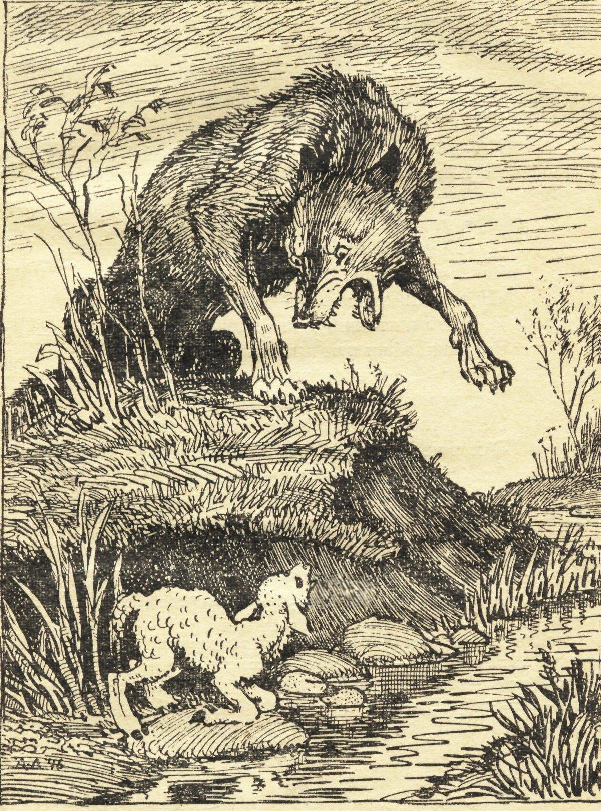 Картинки басни крылова волк и ягненок, поляна картинках