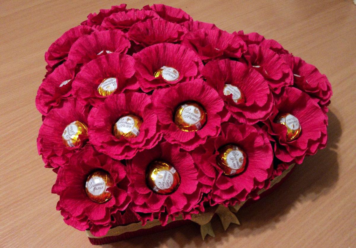 Картинка цветы из конфет