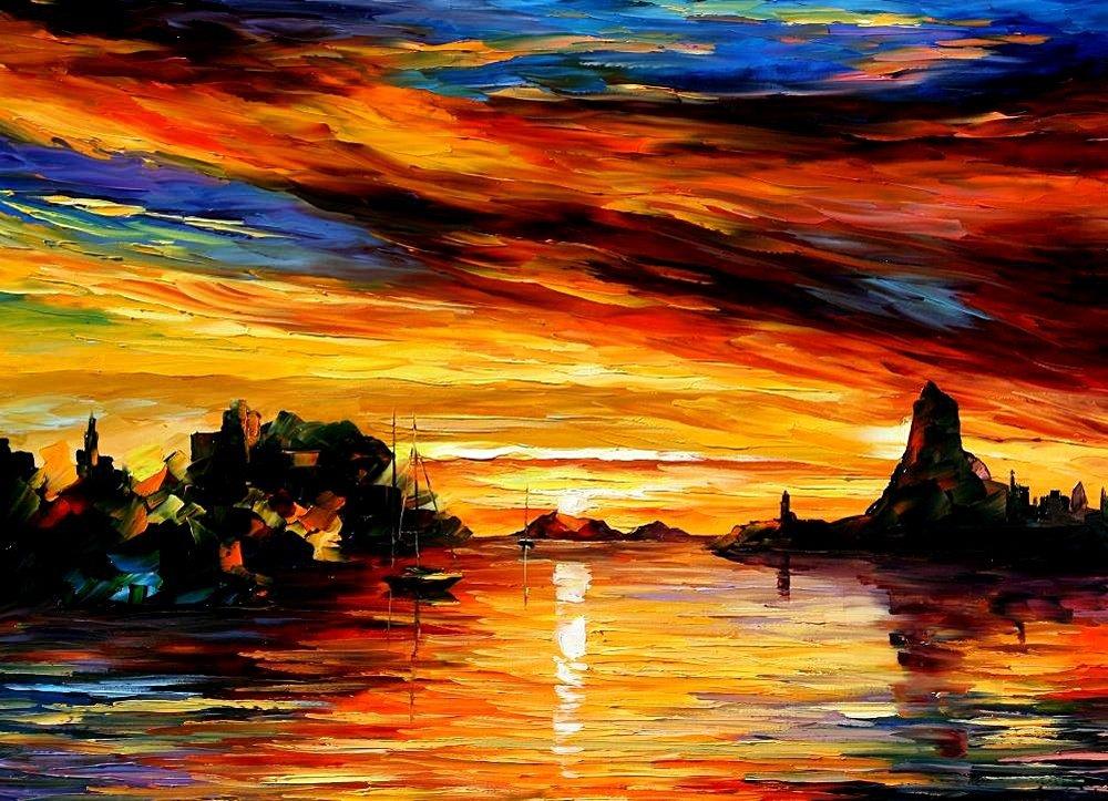 Февраля организациям, закат на море картинки красками