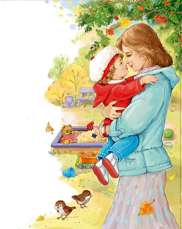 Друзья школьным, картинки про маму и детей мультяшные