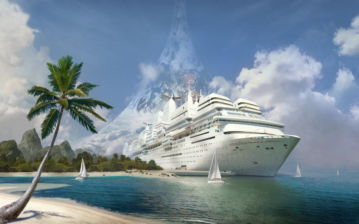 Картинки с лайнером и берег, самой красивой