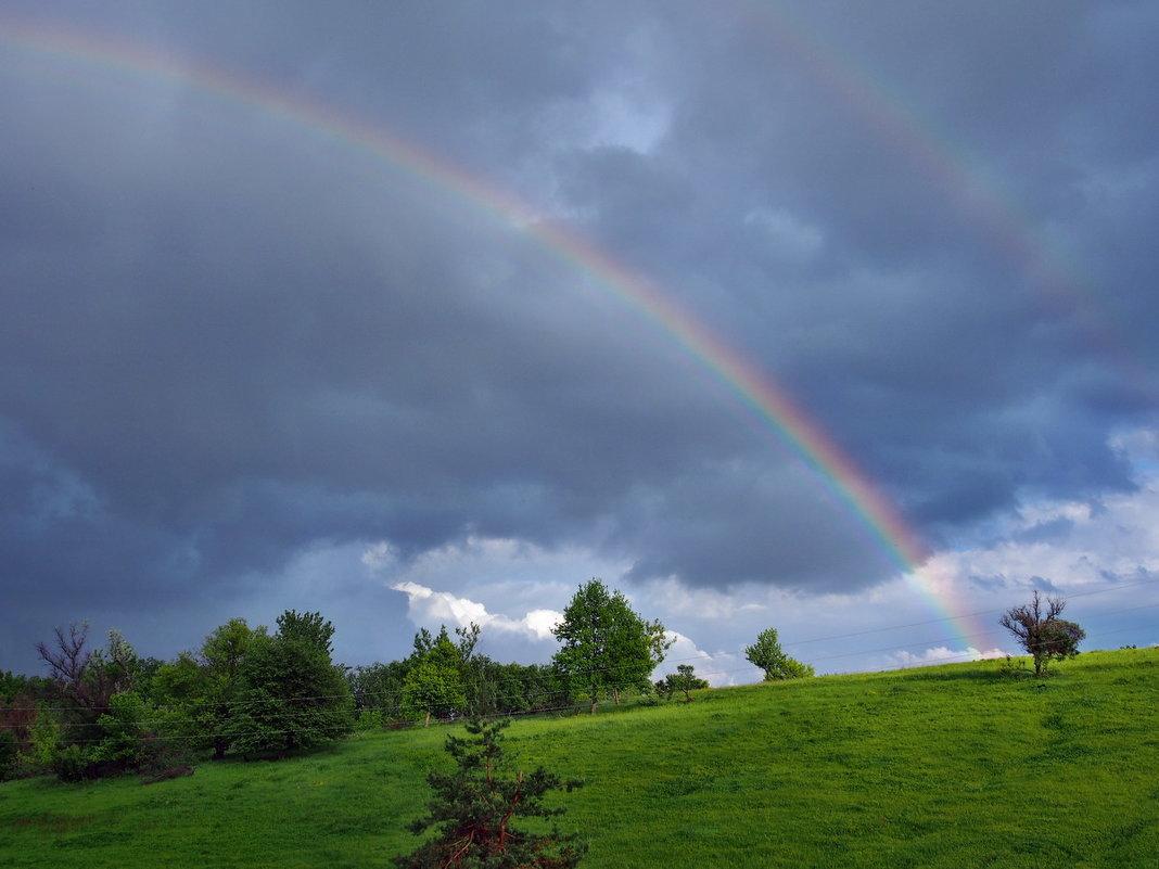 Картинки радуга с дождем
