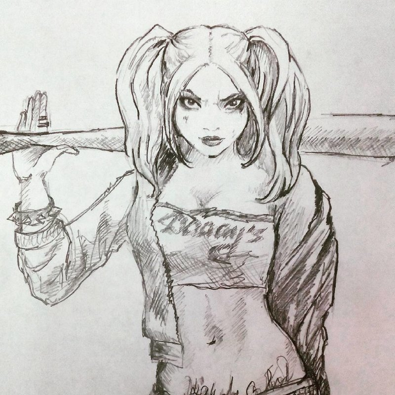 картинки как нарисовать харли квинн поэтапно плитка для крыльца