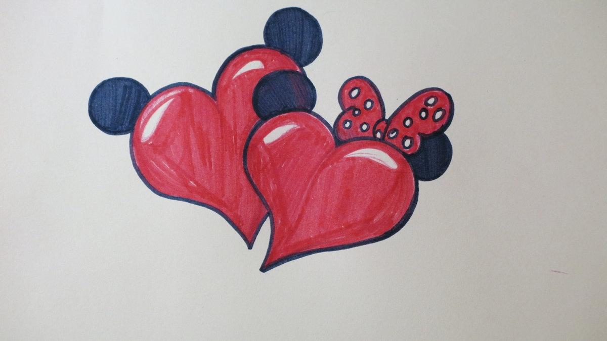 картинки как нарисовать красивое сердечко нажатие