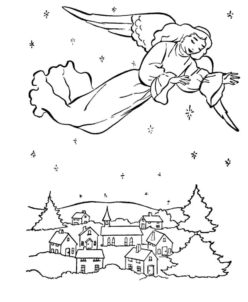 Нарисовать открытку карандашом рождество христово, днем рождения
